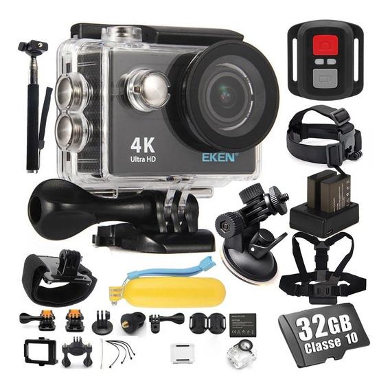 Kit Câmera Eken H9r 4k Wi-fi Aventura + Ventosa + Acessórios