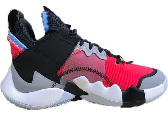 Tenis Jordan Why Not Zer 0.2 Se Negro,gris,rojo, Original