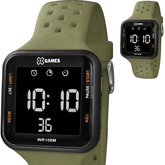 Relógio Masculino Digital X Games Verde Militar Xgppd100