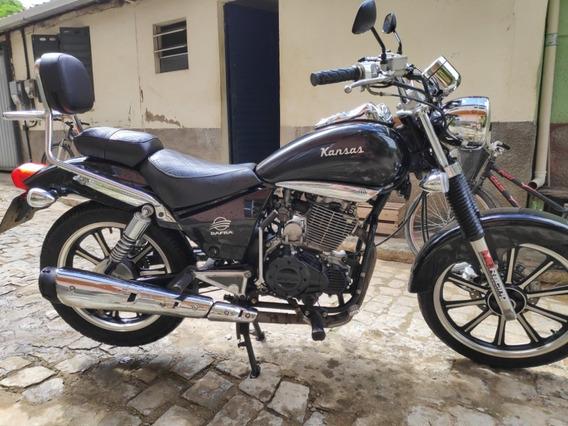 Dafra Kansas 150 Cc - Custom Moto 2º Dono