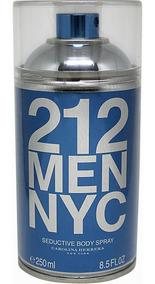 Body Spray 212 Men Nyc 250 Ml - Selo Adipec - Lacrado