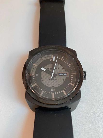 Relógio Diesel Preto 5 Bar Dz 1262 Original