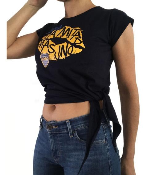 Remera De Mujer Boca Juniors Lazo Con Licencia Oficial