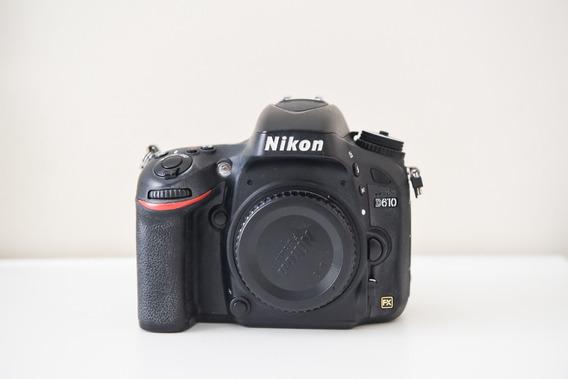 Câmera Nikon D610 Fullframe (79 Mil Cliques)