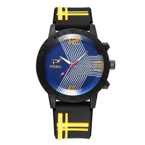 Relógio Suave Silicone Rubber Strap Sport