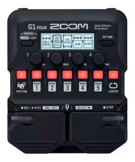 Pedalera Multiefecto Zoom G1 Four Con 70 Efectos Usb Midi Con Looper Y Ritmos De Bateria + Envio