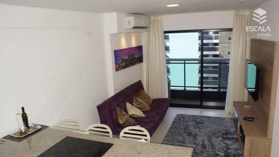 Apartamento Com 1 Dormitório Para Alugar, 45 M² Por R$ 3.500/mês - Meireles - Fortaleza/ce - Ap1109