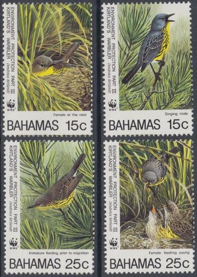 Fauna - Wwf - Pájaros - Bahamas - Serie Mint