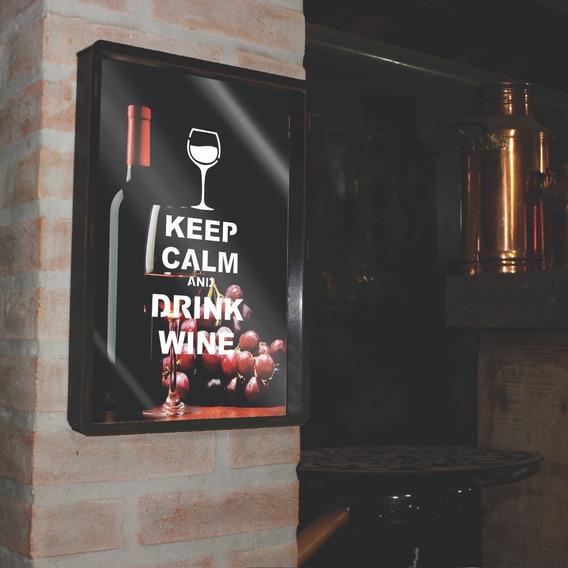 Quadro Porta Rolha Vinho Madeira Mdf Decoração Leve Ja