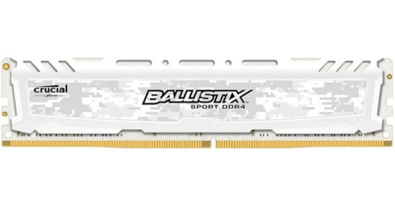 Memória Ram 16gb Ddr4 2400mhz Crucial Ballistix Sport White