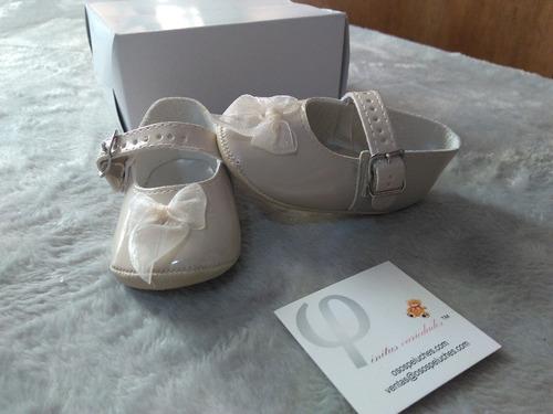 Zapatitos Para Bebe Moño Mimi Blancos