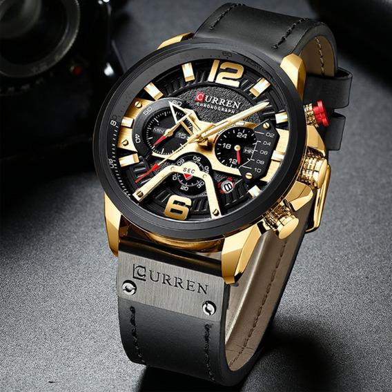 Relógio Curren 8329 Original Com Caixa Esportivo Estojo