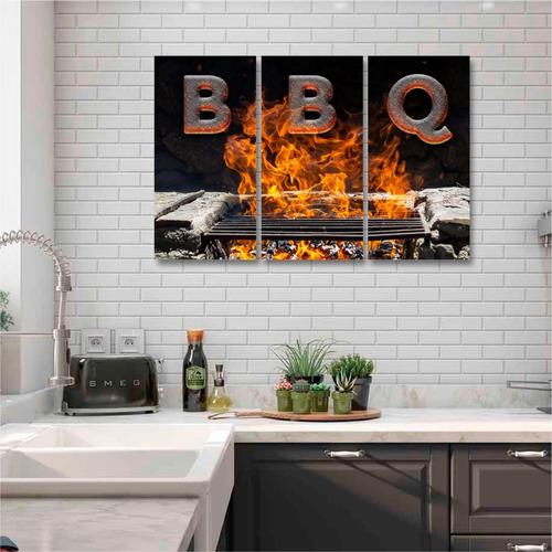 Quadros Decoração Cozinha Churrasco Restaurante Bbq Mdf-6mm