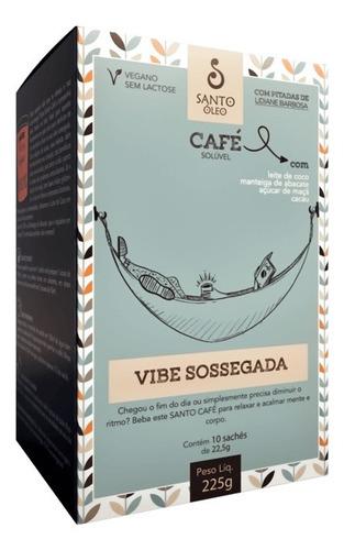Café Vegano Solúvel Vibe Sossegada (01 Caixa Com 10 Sachês)