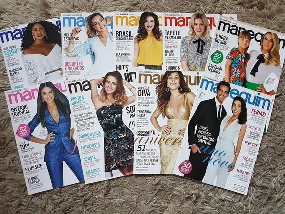 Revistas Manequim 2016 Lote Com 9 Revistas Com Moldes