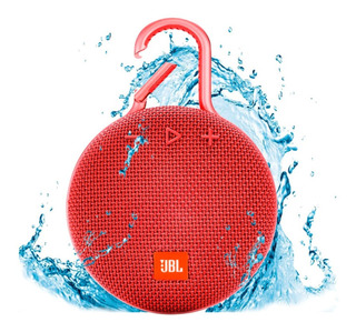 Parlante Portátil Jbl Inalámbrico Bluetooth Clip 3 Rojo _