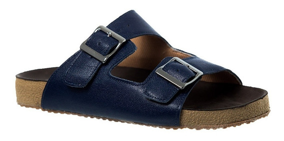 Sandália Feminina Birks Em Couro Petroleo 214 Doctor Shoes