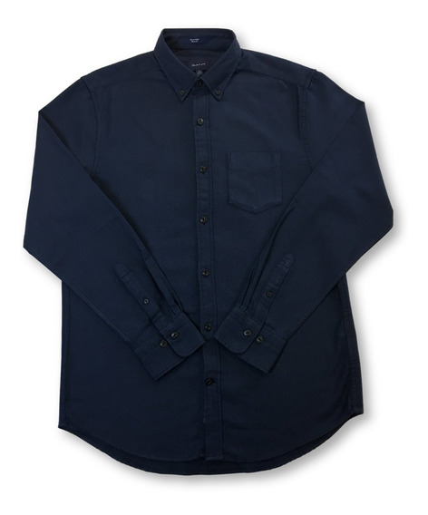 Gant Tech Prep Oxford Camisa Regular En Espiga Azul Marino