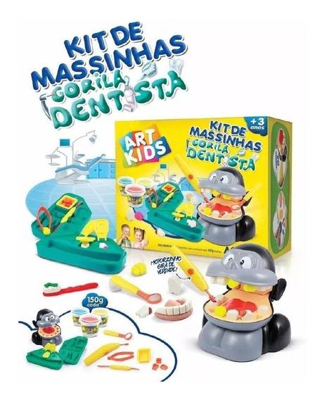 Kit De Massinhas Gorila Dentista Acrilex 450g Art Kids