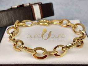 Pulseira Feminina Ouro 18k Detalhe Luxo 3727