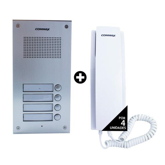 Portero Eléctrico Commax 4 Timbres 4 Teléfono Dpss + Fuente