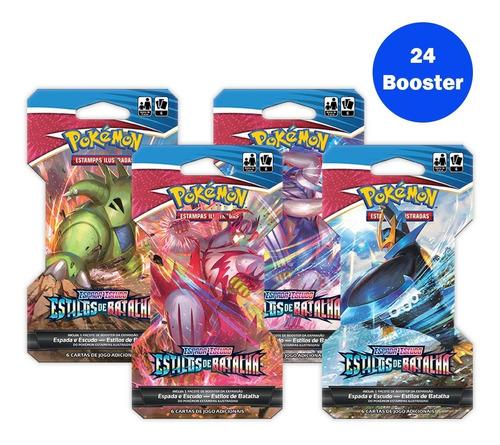Card Game Pokémon Ee5 24 Blister Unitário Estilos De Batalha