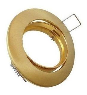 Base Portalámparas Oro Dirigible Mr16 O Gu10 Marca Adir