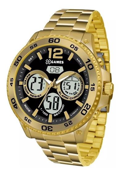 Relógio X Games Xmgsa005 P2kx Dourado Original