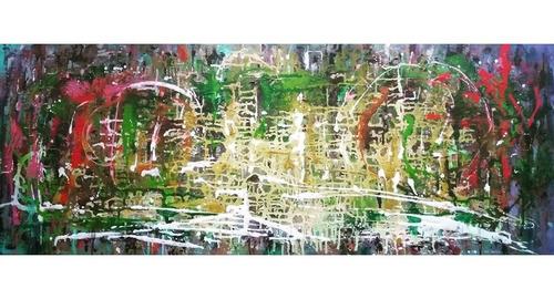 Cuadro Cazart Original Abstracto Moderno Pintado A Mano