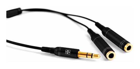 Cabo De Áudio P2 Y Metal Conexão De Audio Para 2 Fones 870