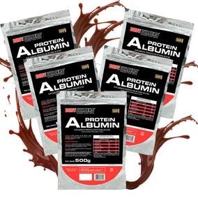 5x Albumina 500g Bodybuilders Total 2,5kg (sabores)