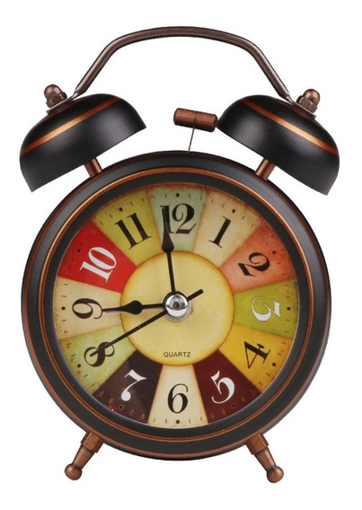 Reloj Despertador Cn Alarma De Campana 4 Pulgadas Metalico