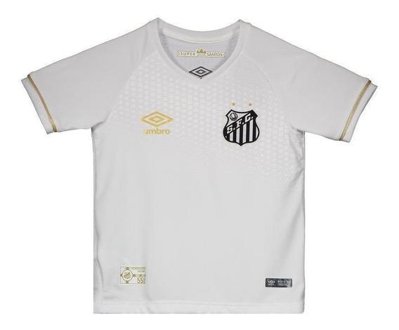 Camisa Umbro Santos I 2018 Infantil