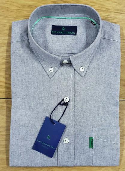 Camisa Oxford Richard Derau - Puro Algodon -sport C/bolsillo