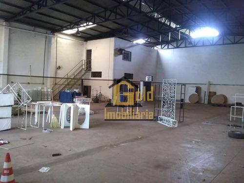 Galpão Para Alugar, 500 M² Por R$ 4.000/mês - Parque Industrial Tanquinho - Ribeirão Preto/sp - Ga0106