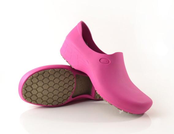 Calçado Para Cozinha Antiderrapante Stick Shoes Woman Rosa