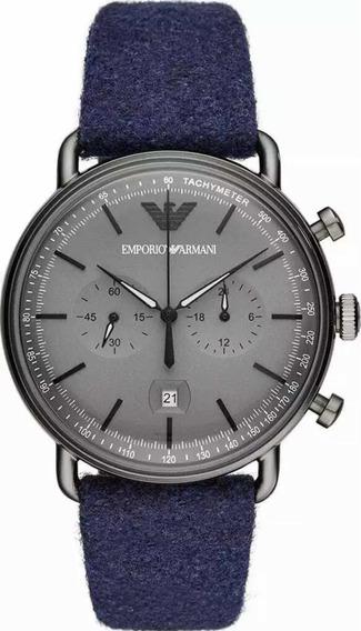 Relógio Empório Armani Lançamento Aviator Chrono Ar11144