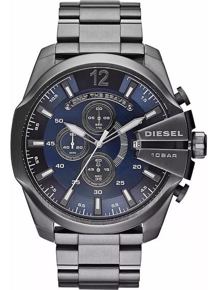Relógio Diesel Mega Chief Dz4329 100% Originalcom Caixa