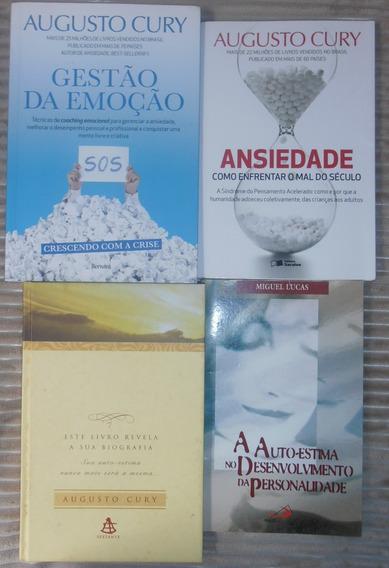 Kit 4 Livros Psicologia - Augusto Cury E Miguel Lucas