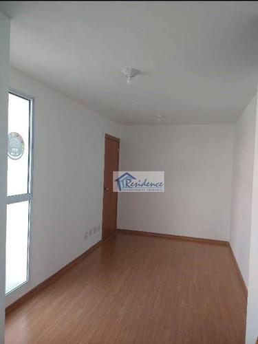 Imagem 1 de 17 de Apartamento Para Alugar, 44 M² Por R$ 1.000,00/mês - Parque Campo Bonito - Indaiatuba/sp - Ap0525