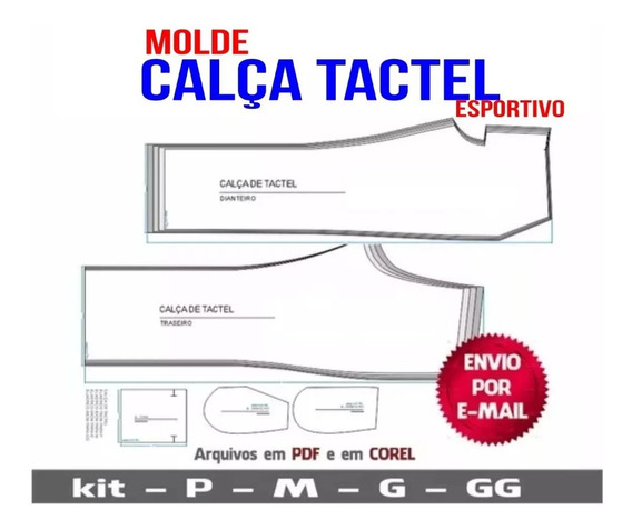 Molde Calça De Tactel (esportiva) Em Corel E Pdf - Novo
