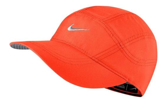 Boné Nike Dri-fit Spiros (laranja Com Prata) #nikerun #praia