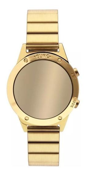 Relogio Feminino Digital Dourado Espelhado Sabrina Sato