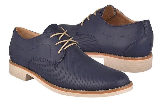 Zapatos Casuales Para Caballero Stylo 3001 Simipiel Azul