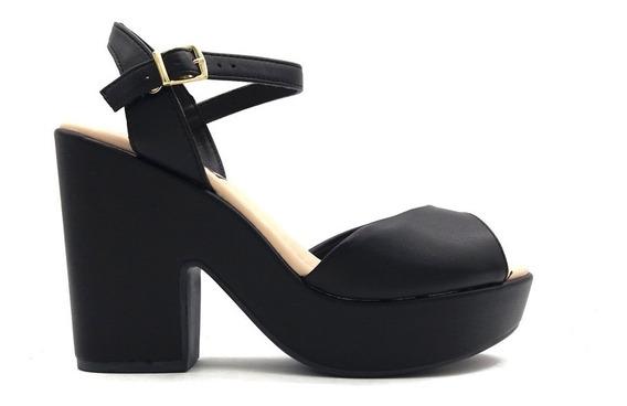 Sandalia De Fiesta Zapato Mujer Faja Taco Plataforma Full