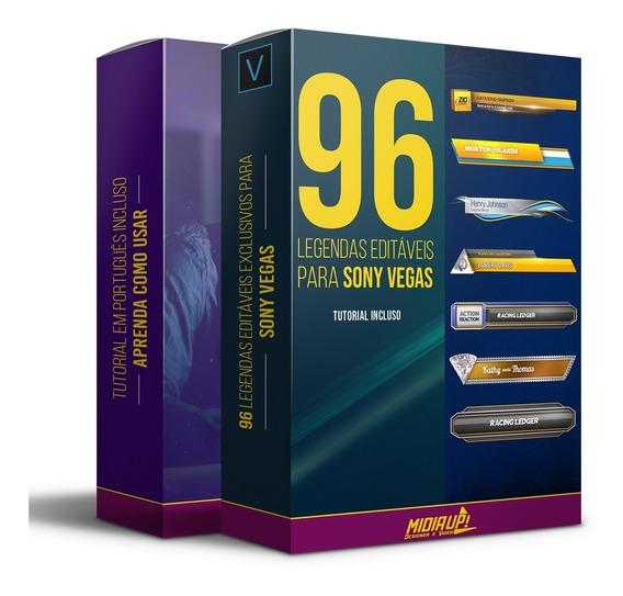 96 Legendas Editáveis Para Sony Vegas I Full Hd + Tutorial