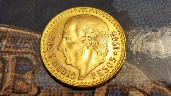 $2.5 Pesoss De Oro Centenario Moneda 22k