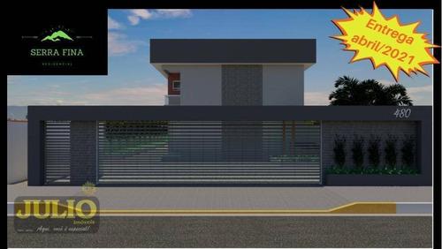 Entrada R$ 52.800,00 E Saldo Financiado! Sobrado Com 3 Dormitórios, 63 M² Por R$ 264.000 - Jardim Belas Artes - Itanhaém/sp - So0864