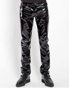 Punk Negro Skinny Rj7113m Pegado Charol Tripp Cuero Pantalon W9IYHED2