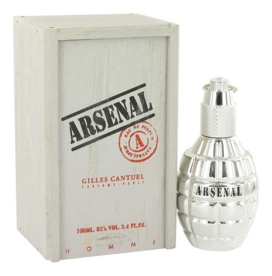 Perfume Arsenal Gilles Cantuel 100 Ml Prata 100% Original